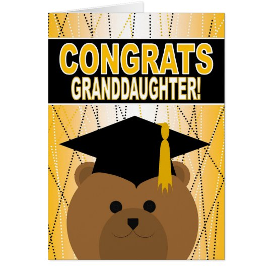 Graduation Congratulations for Granddaughter Card