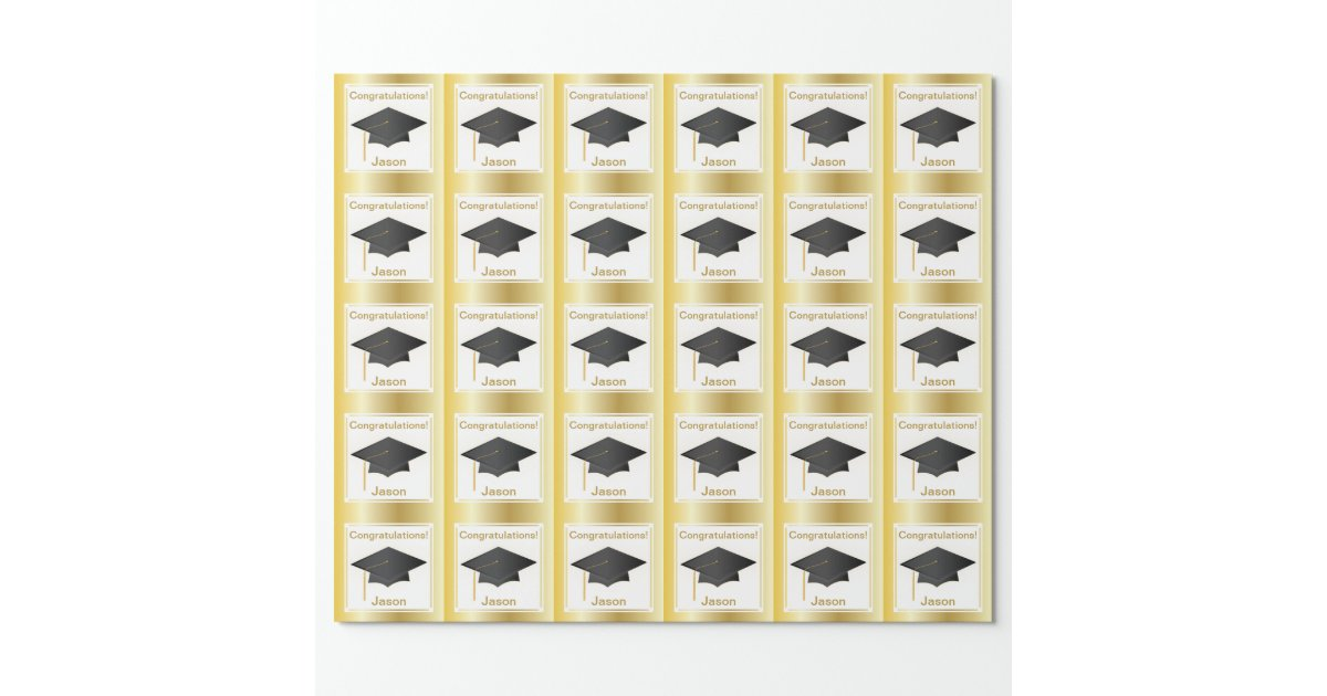 graduation wrapping paper Results 1 - 48 of 193  new vtg american greetings graduation flat gift wrap black diploma  class  of 2017 graduation kraft present gift wrap wrapping paper.