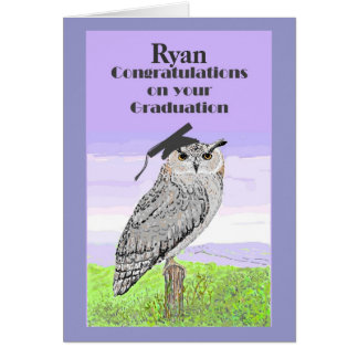 Graduation Congratulations Owl Card Named