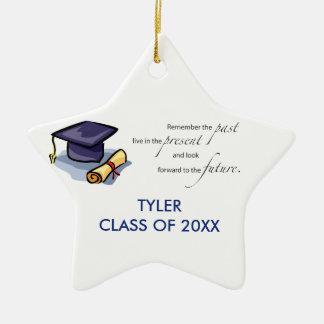 Graduation Congratulations Remember the Past Ceramic Star Decoration