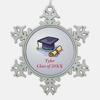 Graduation Congratulations Remember the Past Pewter Snowflake Decoration