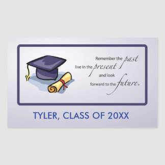 Graduation Congratulations Remember the Past Rectangular Sticker