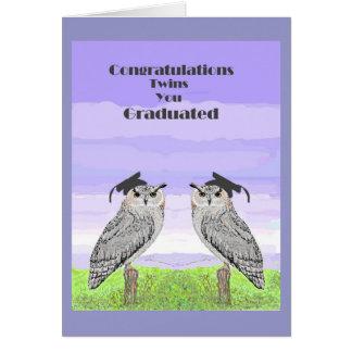 Graduation Congratulations Twins Card