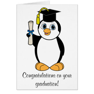 Graduation Congratulations with Boy Penguin Card