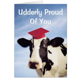 Graduation Cow, Udderly Proud Of You Card