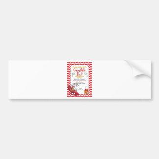 Graduation Crawfish Boil Party Invitation Bumper Sticker