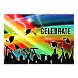 Graduation Crowd Electric Lightning Celebrate Personalized Announcement