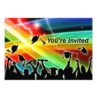 Graduation Crowd Electric Lightning You re Invited Invite