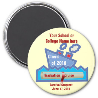 Graduation Cruise Magnet -LARGE 3 Inch Round Magnet
