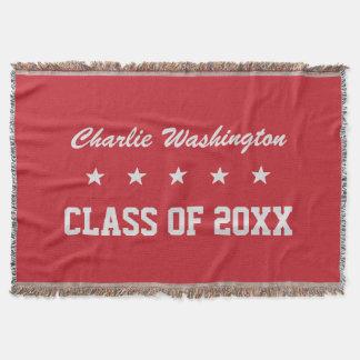 Graduation custom name, year & color throw blanket