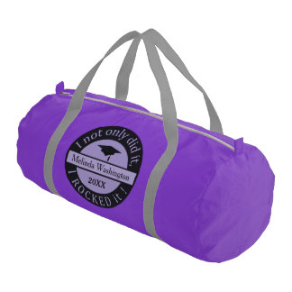 Graduation custom name & year gym bags