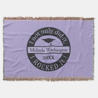 Graduation custom name & year throw blanket