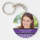 Graduation Custom Year Photo Keychains Purple
