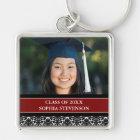 Graduation Custom Year Photo Keychains Red