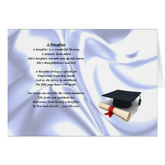 Graduation - Daughter Poem Card