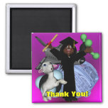 Graduation Day Thank You Square Magnet