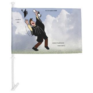 Graduation Design Keepsake Car Flag - Customize It