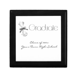 Graduation Diploma Gray Gift Box