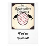 Graduation Diploma Photo Frame Custom Invite