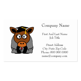 Graduation Donkey Cartoon Illustration Pack Of Standard Business Cards