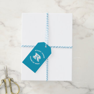Graduation Favors Custom Monogram and Color Tags