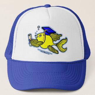 Graduation Fish Graduate funny cartoon HAT