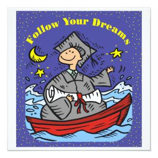 Graduation Follow Your Dreams Personalized Announcement