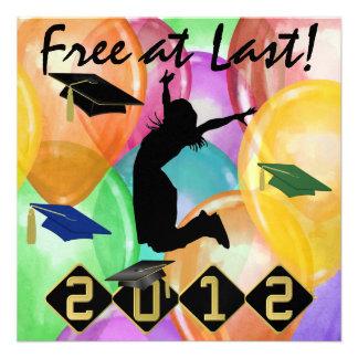 Graduation - Free At Last -  SRF Personalized Invites