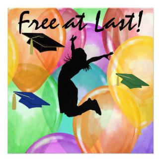 Graduation - Free At Last -  SRF Personalized Invitations