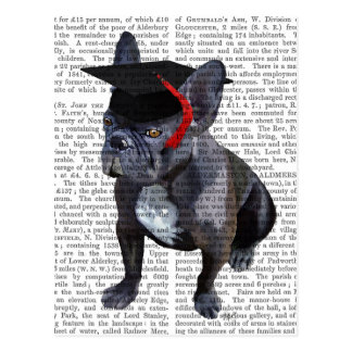 Graduation French Bulldog Postcard