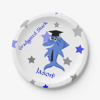 Graduation funny Shark Paper Plate