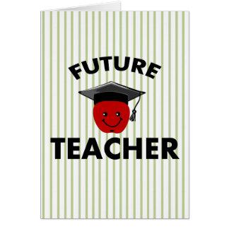 Graduation Future Teacher Card