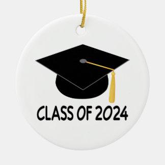 Graduation Gift Class of 2024 Round Ceramic Decoration