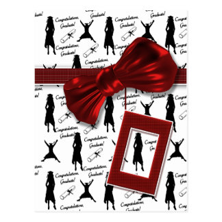 Graduation gifts for women greeting postcard