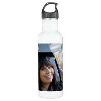 Graduation Girl in Cap and Gown 710 Ml Water Bottle