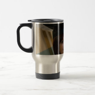 Graduation Girl in Cap and Gown Stainless Steel Travel Mug
