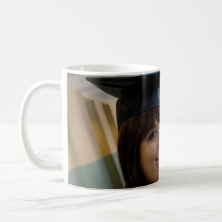 Graduation Girl in Cap and Gown Basic White Mug