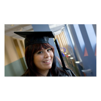 Graduation Girl in Cap and Gown Pack Of Standard Business Cards