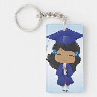 Graduation Girl Rectangle Acrylic Keychains