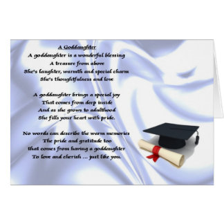 Graduation goddaughter poem card