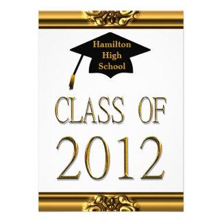 Graduation Gold Class Of 2012 Invitations