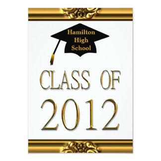"Graduation Gold Class Of 2012 Invitations 4.5"" X 6.25"" Invitation Card"