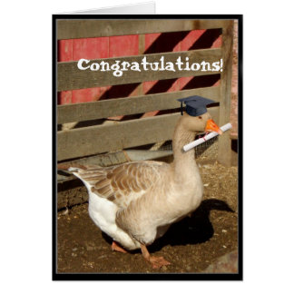 Graduation goose card