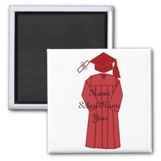 Graduation gown magnet