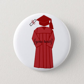 Graduation gown, [your text] button