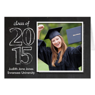 Graduation, Graduate Class Of 2015 Chalkboard Card