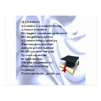 Graduation   Grandson Poem Postcard
