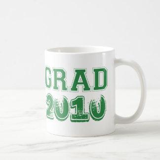 Graduation green class year 2010 custom photo basic white mug