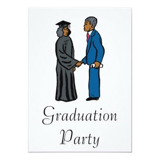 Graduation Handshake 13 Cm X 18 Cm Invitation Card