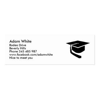 Graduation hat business card template